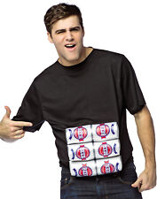Six Pack Of Beer Adult Funny Halloween Shirt Costume-One Size
