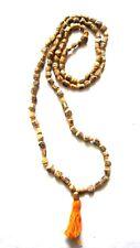 Tulsi Knotted Beads Japa Mala Necklace Prayer Yoga Meditation Classy Hinduism 1