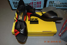 Black and red Topline Ruby ballroom/latin dance shoes size UK 7.5