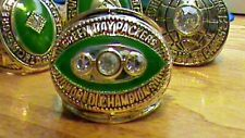 N.F.L.~Green Bay Packers~1967~World Champions~Super Bowl Ring~Heavy~Gold Plate