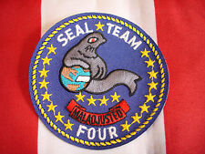 Navy Seal Team Four Patch New Full Color Embroidered Hat Jacket Bag Coat