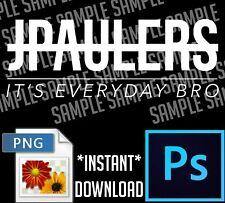 Jake Paul Logo, JPAULERS It's Everyday Bro PNG PhotoShop File (Digital Download)