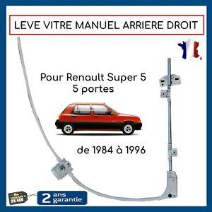 Lève-vitre manuel arriere droit pour RENAULT Super 5 (5portes) = 7700774978