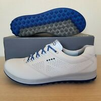 d2e3ba18d6a447 ECCO M Biom Hybrid 2 White Bermuda Blue Spikeless Golf Shoe SZ 12 (151544-