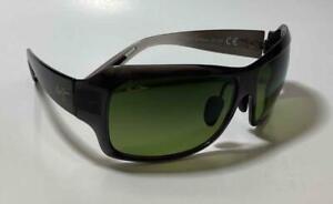 New Maui Jim SEVEN POOLS Polarized Sunglasses HS418-11A Trans Gray/HT Green