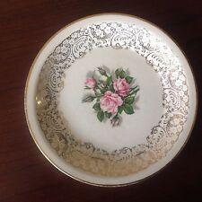 "Tudor Rose Bread & Butter Plate 6-3/16"" Georgian China 22 Kt. Gold Gilded USA"