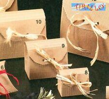 CONFEZIONI BOMBONIERE - 2 scatole bauletto cartone ondulato - 70x48mm
