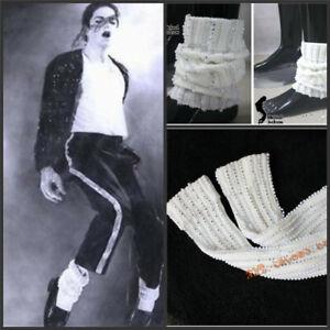 MJ Michael Jackson Crystal Socks Leg Cuff Bling Bling 35CM Cosplay Costume Prop