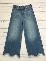 Hollister Women's High Rise Culotte Cropped Jeans Size W23 x L24 New without tag