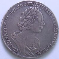 RUSSIE PIERRE I ER ROUBLE 1725 ARGENT