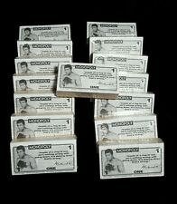 MONOPOLY MONEY NEW STACK OF REPLACEMENT PARTS 15 pack lot Mohammed Ali Boxing