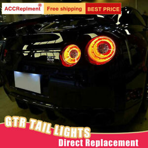 For Nissan GTR LED Taillights Assembly Dark / Red LED Rear Lamps 2009-2018
