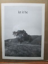 Vintage Black /White Poster LOVE Peace LET IT BE 1970's in#G2841