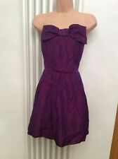 Belle By Oasis Purple Pink Shimmer Boned Dress Party Wedding Christmas Size 14