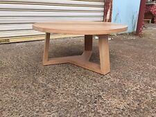 Factory direct Solid Tassie Oak Delta Round Coffee Table 1000 Diameter