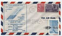 1948 Trona CA RRS rocket flight cover with cinderella [y3849]