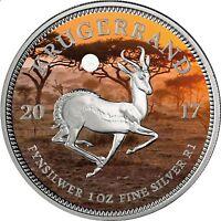 Südafrika 1 Rand 2017 Silbermünze Krügerrand PANGÄA Serie in Farbe