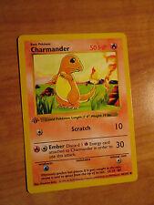 EX 1st edition CHARMANDER Pokemon Card BASE Set 46/102 Common Shadowless TCG