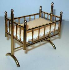 VINTAGE CRADLE SOLID BRASS #5000 DOLLHOUSE FURNITURE MINIATURES