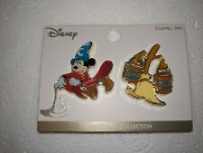 Disney Fantasia Sorcerer Hat Mickey Mouse & Broom Loungefly Pin Set BoxLunch