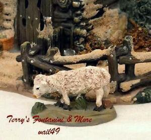 "BETHLEHEM NATIVITY VILLAGE 2.5"" SERIES WHITE SHEEP FIGURE USE w/FONTANINI"