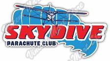"Skydive Skydiving Parachuting Parachute Car Bumper Vinyl Sticker Decal 6""X3"""