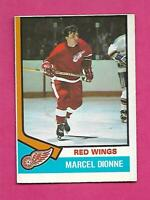 1974-75 OPC # 72 RED WINGS MARCEL DIONNE EX+ CARD (INV# C4914)