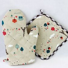 Newly Kitchen Heat Resistant Glove Pot Holder Set Baking Anti-scald Oven Mitts