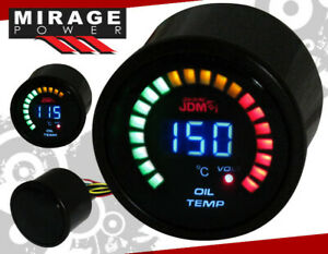 "2"" 52mm Digital Blue Led JDM Oil Temperature Meter Racing Monitoring Gauge Vw"