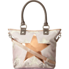 GEORGE GINA & LUCY Hipper Gold Beige Star Leather Crossbody Shoulder Purse Tote