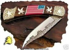 "David Yellowhorse ""Old Glory"" American Flag  Buck 110"