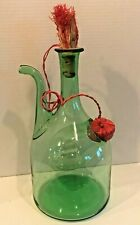 Princess House 1970's Green Glass Wine Decanter Chiller