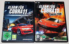 2 PC SPIELE SET - ALARM FÜR COBRA 11 - HIGHWAY NIGHTS & CRASH TIME - DVD HÜLLE
