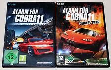 2 PC Giochi Set-allarme per Cobra 11-Highway Nights & Crash Time-DVD GUSCIO