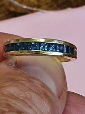 Sapphire Ring in Yellow Gold Hallmarked Handmade Fabulous