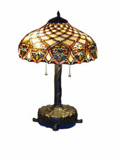 "Tiffany Style Handcrafted Baroque Style Table Lamp 16"" Shade"
