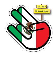 JDM Shocker with Mexican Flag Wakaba Leaf Funny Decal Sticker FLG43