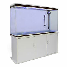 Fish Tank Cabinet Aquarium Tropical Marine Large White 4ft 300 Litre LED Light