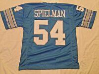 UNSIGNED CUSTOM Sewn Stitched Chris Spielman Blue Jersey - M, L, XL, 2XL