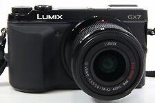 Panasonic Lumix DMC-GX7 Kit schwarz, guter Zustand