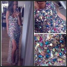 Luxury Crystal Long Formal Evening Dress Mermaid Celebrity Pageant Party Gown