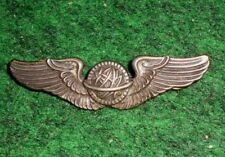 "Original WWII U.S. USAAF Navagator Wing- 3"" Sterling ""NS Meyer Shield"" Pin Back"