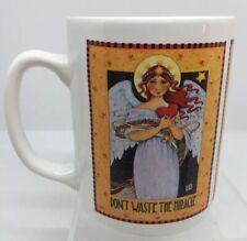 """Vtg Englebreit 14 Oz Mug, """"Don't Waste The Miracle�, Excellent! Angels & 💕"""