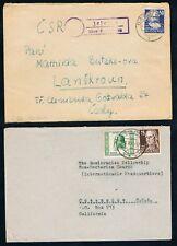 SBZ, Köpfe -3 Auslandsbriefe, dabei 221 MEF, 224 EF mit PST II-Stempel