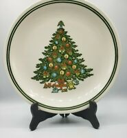 Vintage Christmas by Carlton Cake Plate Japan 1986 Tree Holiday 11 1/4""