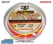 FILO SURFCASTING 0,355 mm XPS  LONGCAST FLUO  ORANGE  1200 mt TRABUCCO