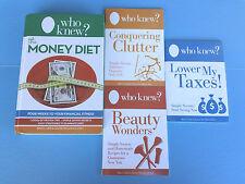 Who Knew? The Money Diet 4-Piece Complete Money-Saving Book Set