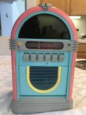 Popworks Retro Jukebox Model 1-9873 AM/FM Cassette Recorder Radio