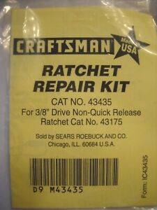 """Craftsman Repair Kit #43435 for 3/8"""" Drive Ratchet 43175 For USA Made Ratchets"""