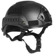 More details for us military combat helmet 2001 mich padded railed nv mount head protection black